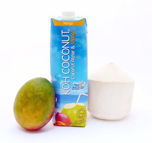 KOH Coconut 100% Coconut Water with Mango 1L (33.8oz) Tetra Pak