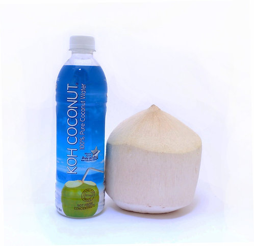 KOH Coconut 100% Coconut Water 500mL (16.9oz) PET Plastic Bottle