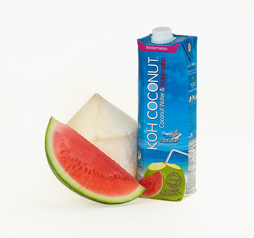 KOH Coconut 100% Coconut Water with Watermelon 1L (33.8oz) Tetra Pak