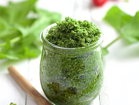 How to Make pesto with Radish Microgreens | Nick Greens Grow Team