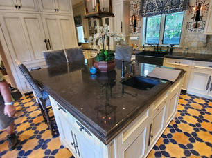 Kitchen counter top with special profile