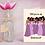 Thumbnail: Bridal party - purple | Greetings card