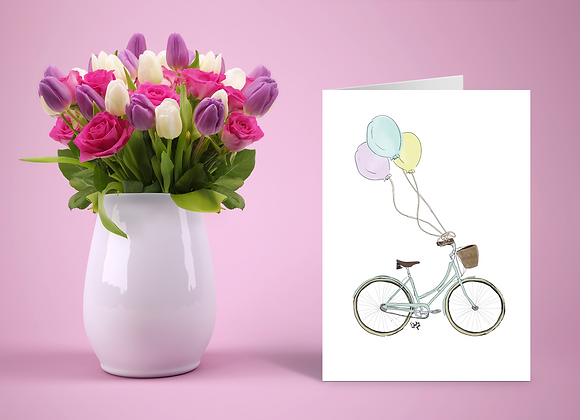 Eleni's bicycle | Greetings card