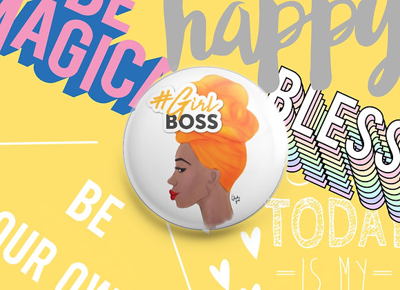 #Girl boss | badge | mirror | magnet