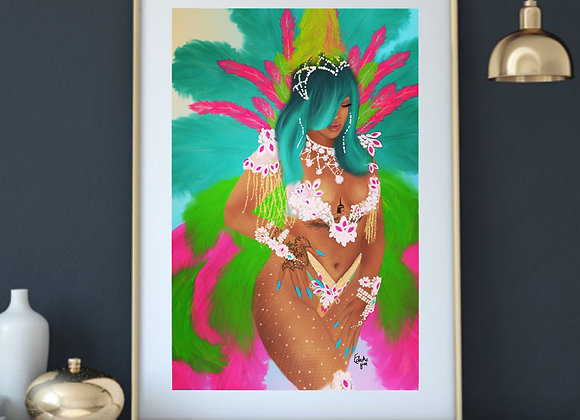 Aura | wall art print | Carnival | various sizes