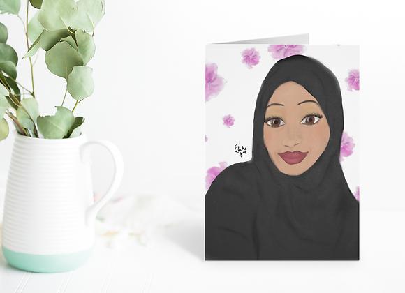 Black Beauty | Greetings card