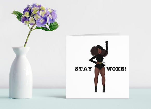 Stay woke - Angie | Greetings card