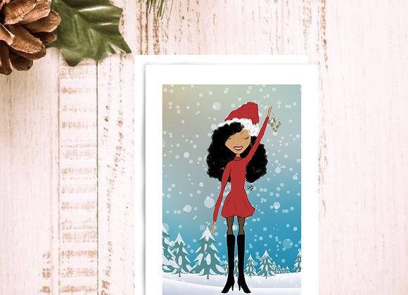 Kiss me quick | Christmas | holiday season | Greetings card