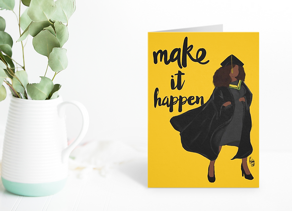 Heroes - make it happen | Greetings card