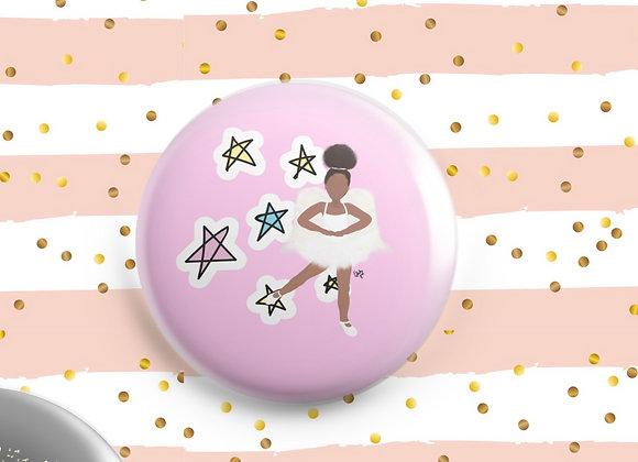 Baby brown angel | badge | mirror | magnet