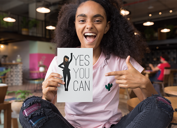 Yes you can! -Stay woke series | Greetings card