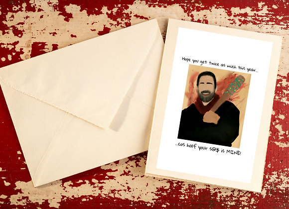 Negan | Christmas | holiday season | Greetings card
