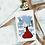 Thumbnail: Lady in red | Christmas | holiday season | Greetings card