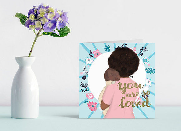 Mama snuggles - you are loved | Greetings card