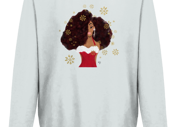 Holiday diva Christmas jumper | HEATHER GREY