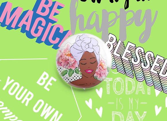 Lulu | badge | mirror | magnet