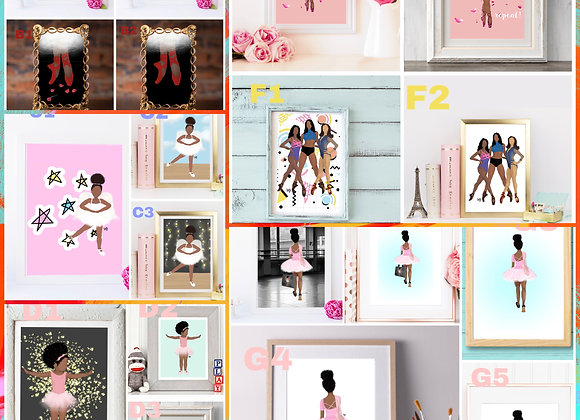 Dance prints | Ballet | Choose 2 for 20% off