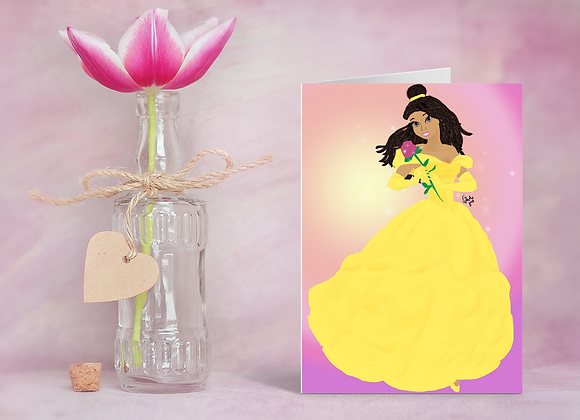 Belle like me | Greetings card