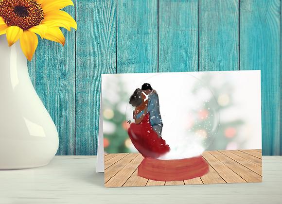Let it snow | Greetings card