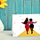 Thumbnail: On the town (b) | Greetings card