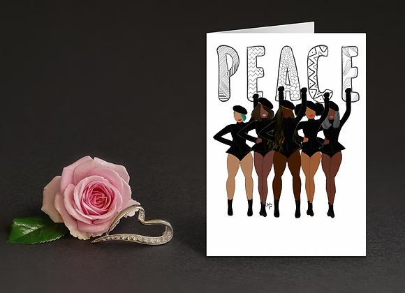 Peace  - Stay woke series | Greetings card