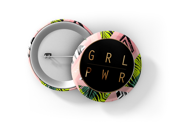 Girl power | badge | mirror | magnet