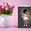 Thumbnail: Baby brown ballerina | Greetings card
