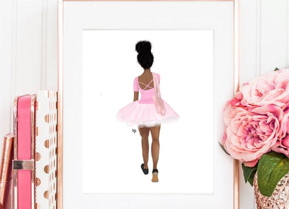 Twinkle Toes   wall art print   Ballerina