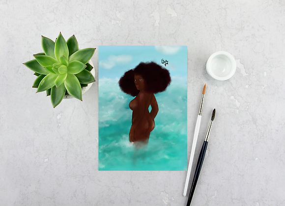 Into the blue | Greetings card