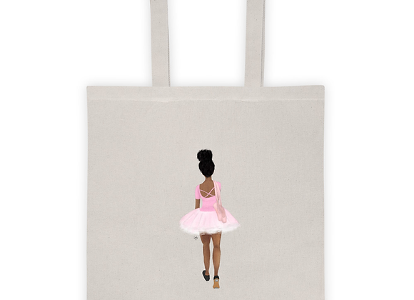Twinkle toes | Ballerina |Natural 100% cotton Tote bag