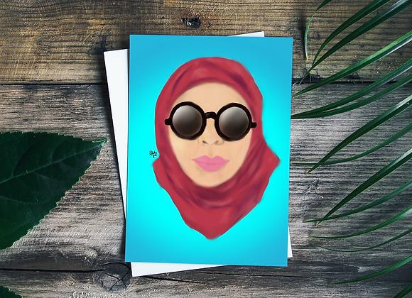 Hijab on fleek | Greetings card