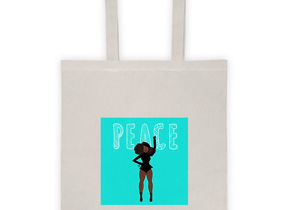 Stay woke | Angie | peace |Natural 100% cotton Tote bag