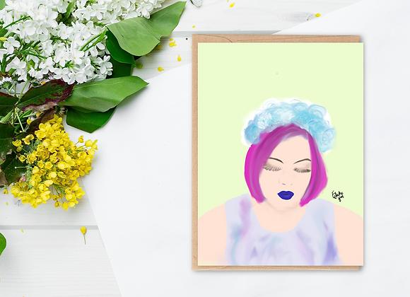 Willow (b)   Greetings card