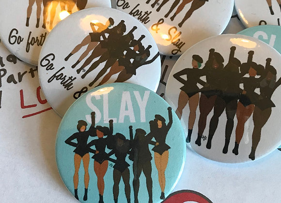 SLAY   badge   mirror   magnet