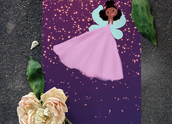 Farah the fairy | Greetings card