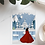 Thumbnail: Lady in red   Greetings card