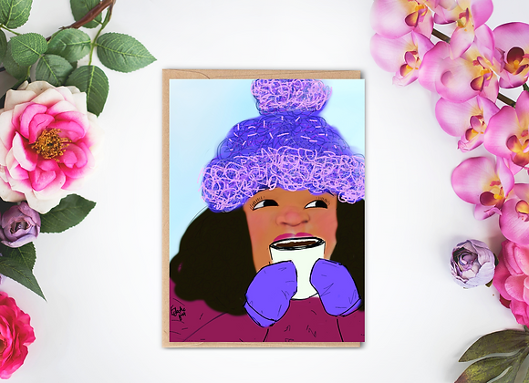 Baby it's cold outside | Greetings card