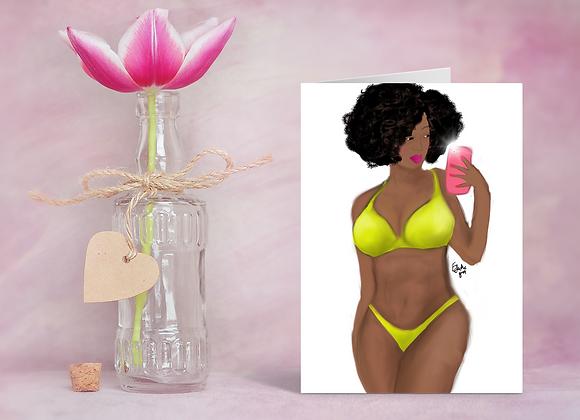 Island girl | Greetings card