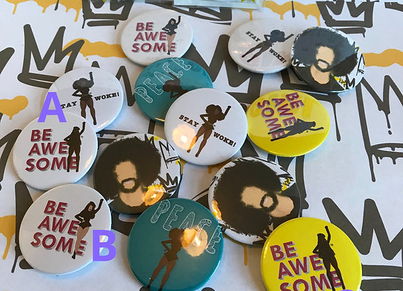 Be awesome | badge | mirror | magnet