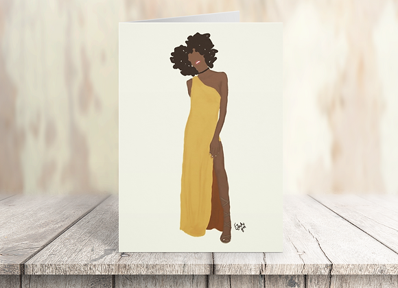 Yellow | Greetings card
