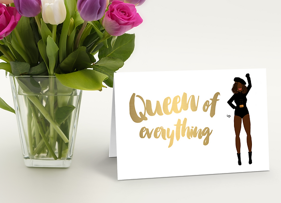Queen of everything - Stay woke series | Greetings card
