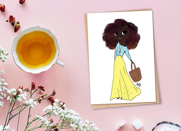 Saffron | Greetings card