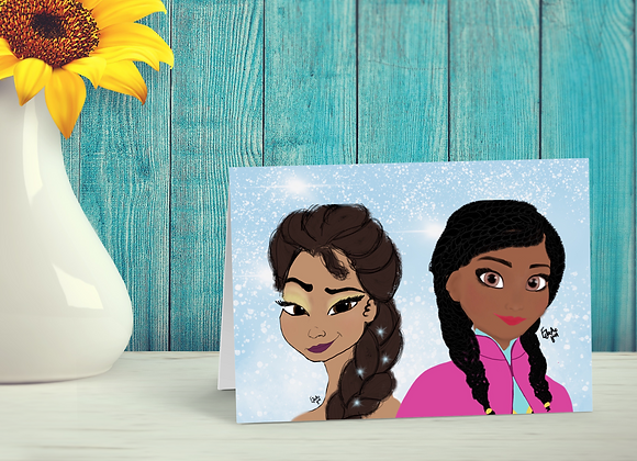 Sisters like us | Greetings card