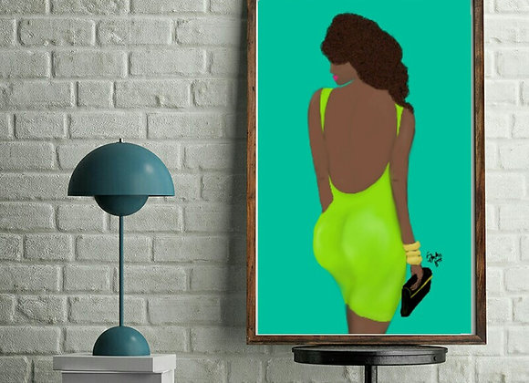 Ms Green | wall art print | various sizes