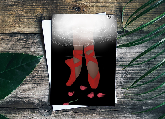 Bowie shoes | Greetings card