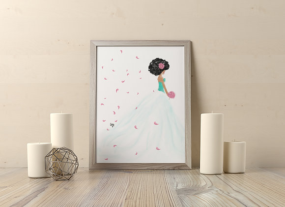 Aquarina | wall art print | Bridal | various sizes
