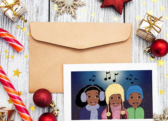 Carol singers | Christmas | holiday season | Greetings card