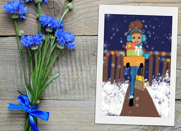 Shopaholic | Christmas | holiday season | Greetings card