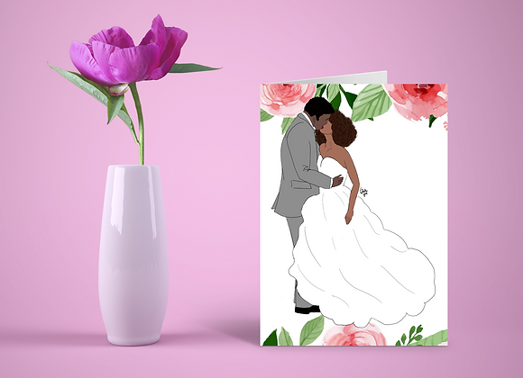 Kiss the bride | Greetings card