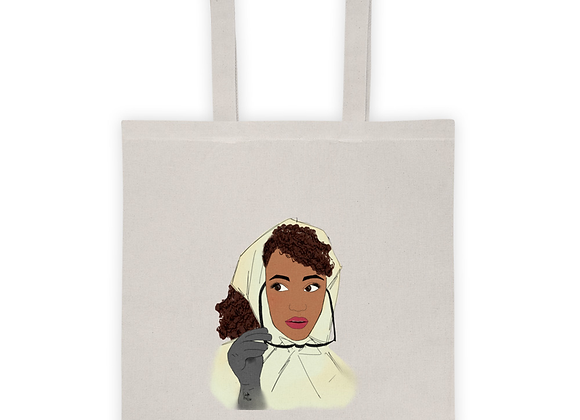 What would Audrey do? |Natural 100% cotton Tote bag
